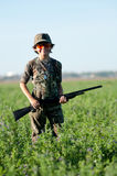 Dove Hunting Boy Stock Photography