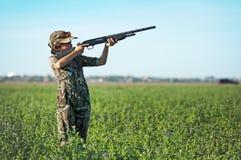 Dove Hunting Boy Royalty Free Stock Photos