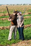 Dove Hunting couple show their love Royalty Free Stock Photography