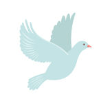 Dove Icon in flat style. Royalty Free Stock Images