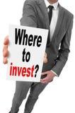 Dove investire? Fotografia Stock Libera da Diritti