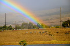 Dove l'arcobaleno si conclude Immagine Stock Libera da Diritti