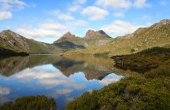 Dove lake. Cradle Mountain and Dove Lake, Tasmania, Australia Royalty Free Stock Photography
