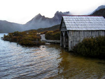 Dove lake boat shed Tasmania Royalty Free Stock Photography