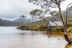 The Dove Lake boatshed in Cradle Mountain NP, Tasmania Royalty Free Stock Images