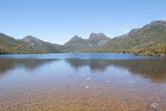 Dove Lake in Cradle Mountain National Park  Tasmania Stock Image