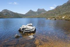 Dove Lake Cradle Mountain National Park  Tasmania Stock Images