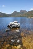 Dove Lake in Cradle Mountain National Park  Tasmania Royalty Free Stock Photo