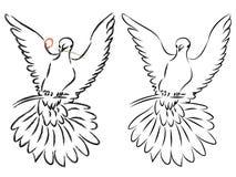 Dove Line Art Royalty Free Stock Photography