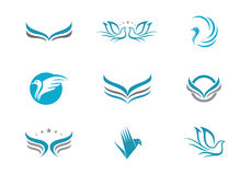 Dove logo Template Vector Royalty Free Stock Photos