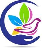 Dove logo. A vector drawing represents dove logo design royalty free illustration