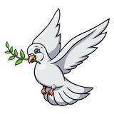 Dove with olive branch 2 Stock Photography