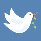 Dove with olive branch Royalty Free Stock Image