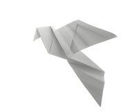 Dove origami. On white background Stock Photo