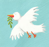 Dove of Peace. Acrylic illustration of Dove of Peace Stock Photos