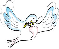 Dove of peace. Holding olive Stock Images