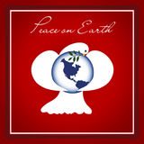 Dove of Peace Christmas Background Royalty Free Stock Photo