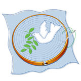 Dove of Peace Embroidery Stock Image