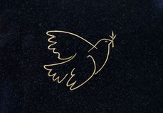 Dove Of Peace On A Grave Stock Images