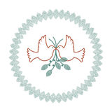 Dove of peace Laural Leaf Royalty Free Stock Photo