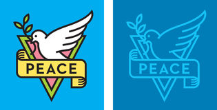 Dove of Peace Logo Stock Photo
