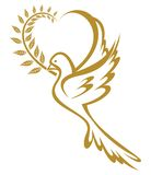 Dove of Peace. Vector illustration of the Dove of Peace Royalty Free Stock Photo