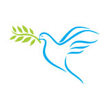 Dove of Peace. Vector illustration of the Dove of Peace Royalty Free Stock Photos