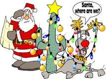 Dove siamo Santa? Fotografia Stock Libera da Diritti