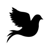 Dove silhouette icon image royalty free illustration