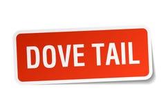 Dove tail sticker Stock Image