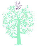 Dove with tree Royalty Free Stock Photography