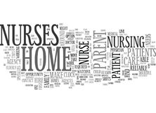Dove trovare un infermiere Word Cloud della casa Immagine Stock Libera da Diritti