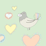 Dove Valentine card Royalty Free Stock Photos