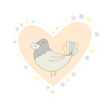 Dove Valentines card Royalty Free Stock Photo