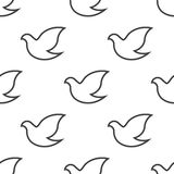 Dove, vector seamless pattern Royalty Free Stock Photo