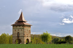 Dovecote in bricks. A ancient dovecote in the south-west of France Royalty Free Stock Images