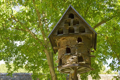 Dovecote made of wood and straw Stock Image