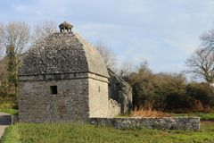 Dovecote at Penmon Anglesey. A side shot of the 1000 bird dovecote at Penmon, Anglesey Stock Image