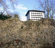 Dovecote showing above wall Stock Images
