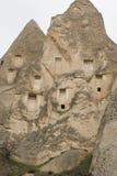 Dovecotes dans Cappadocia en hiver Photo libre de droits