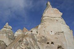 Dovecotes dans Cappadocia en hiver Photos libres de droits