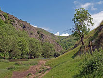 Dovedale em Derbyshire imagem de stock