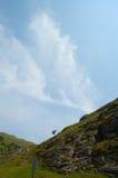 Dovedale en wolken Stock Foto