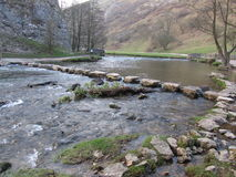 Dovedale stepping stones Royalty Free Stock Images