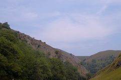 Dovedale Valley. Scenic view of Dovedale Valley, Peak District, England Royalty Free Stock Photography