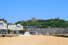 Dover. View of Dover and its castle from the harbour Stock Image
