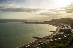 Dover beach at sunset Stock Photography