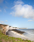 Dover britain white cliffs. Of chalk can be seen from France Stock Photos