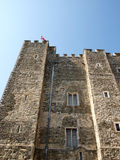Dover Castle. View of wall of the Keep of Dover Castle England Stock Photos