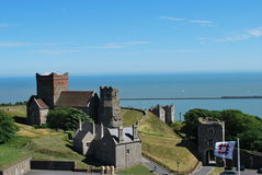 Dover Castle. England. Dover Castle. Pas de Calais stock photo